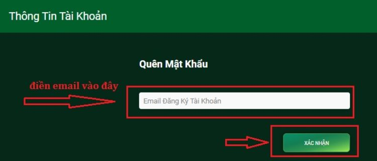 điền email